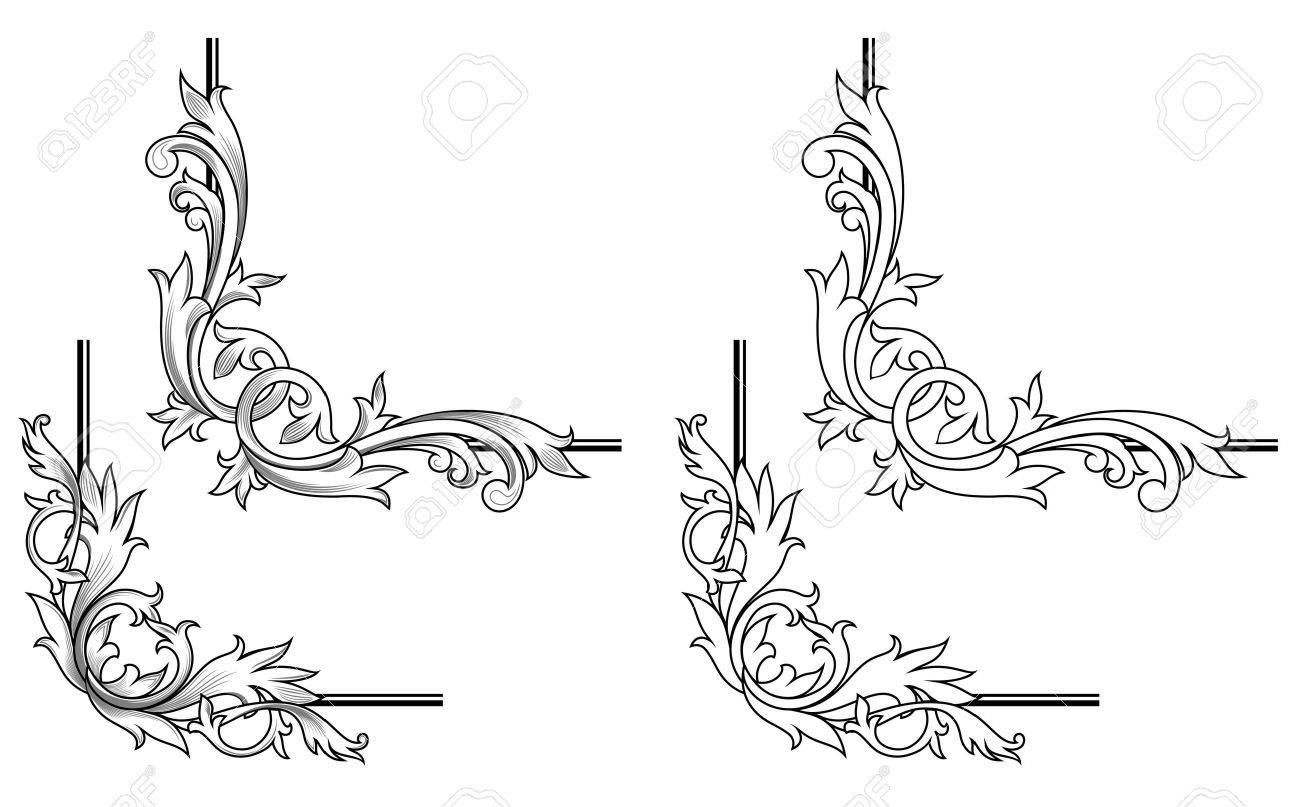 Swirl Elements And Monograms For Design And Decorate Stock Vector 7079676