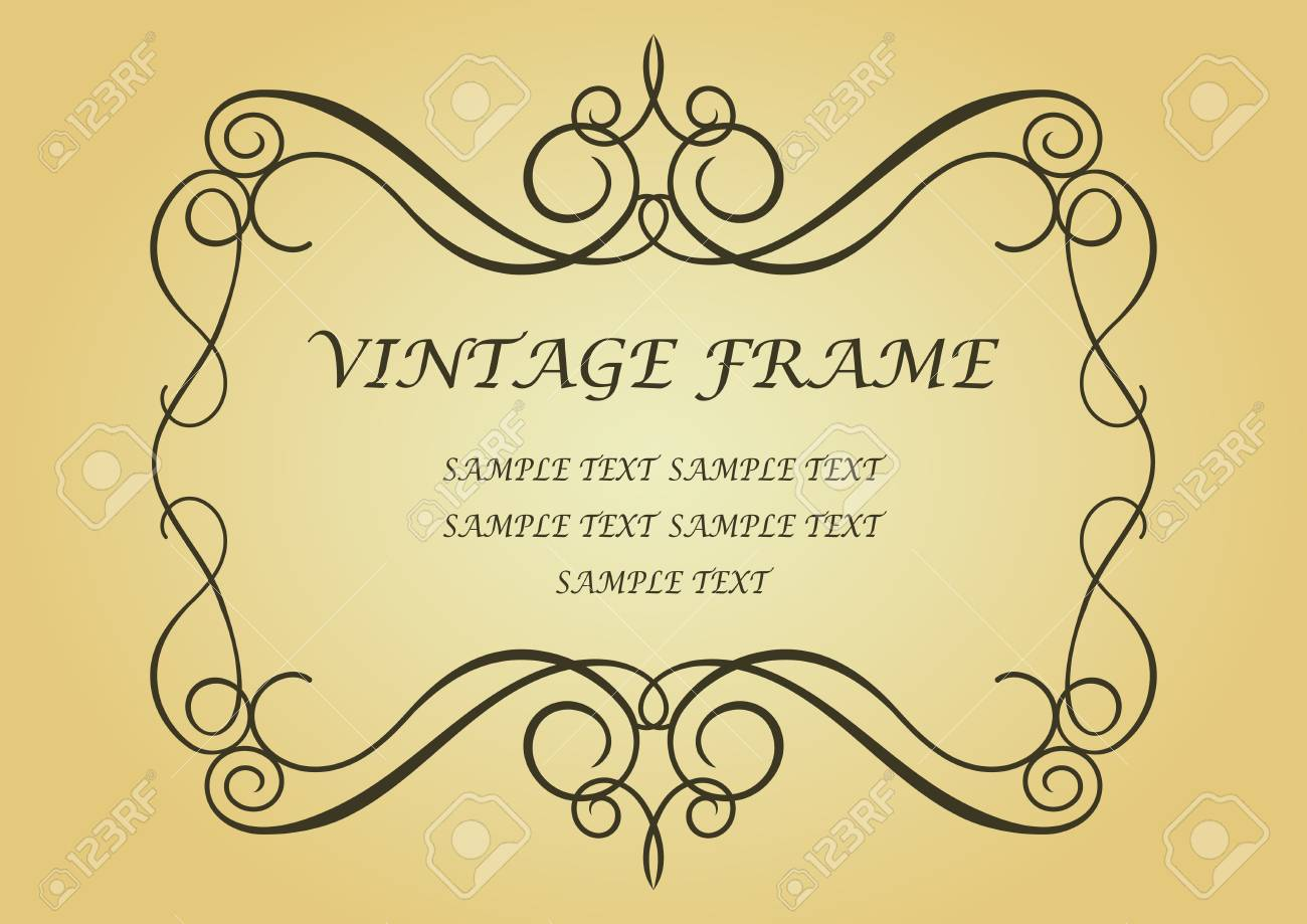 Vintage frame in victorian style for design as a background Stock Vector - 7164845