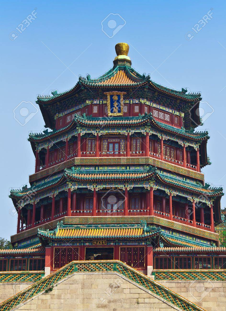 Famous temple in Summer Emperor Palace in Beijing Stock Photo - 7219683