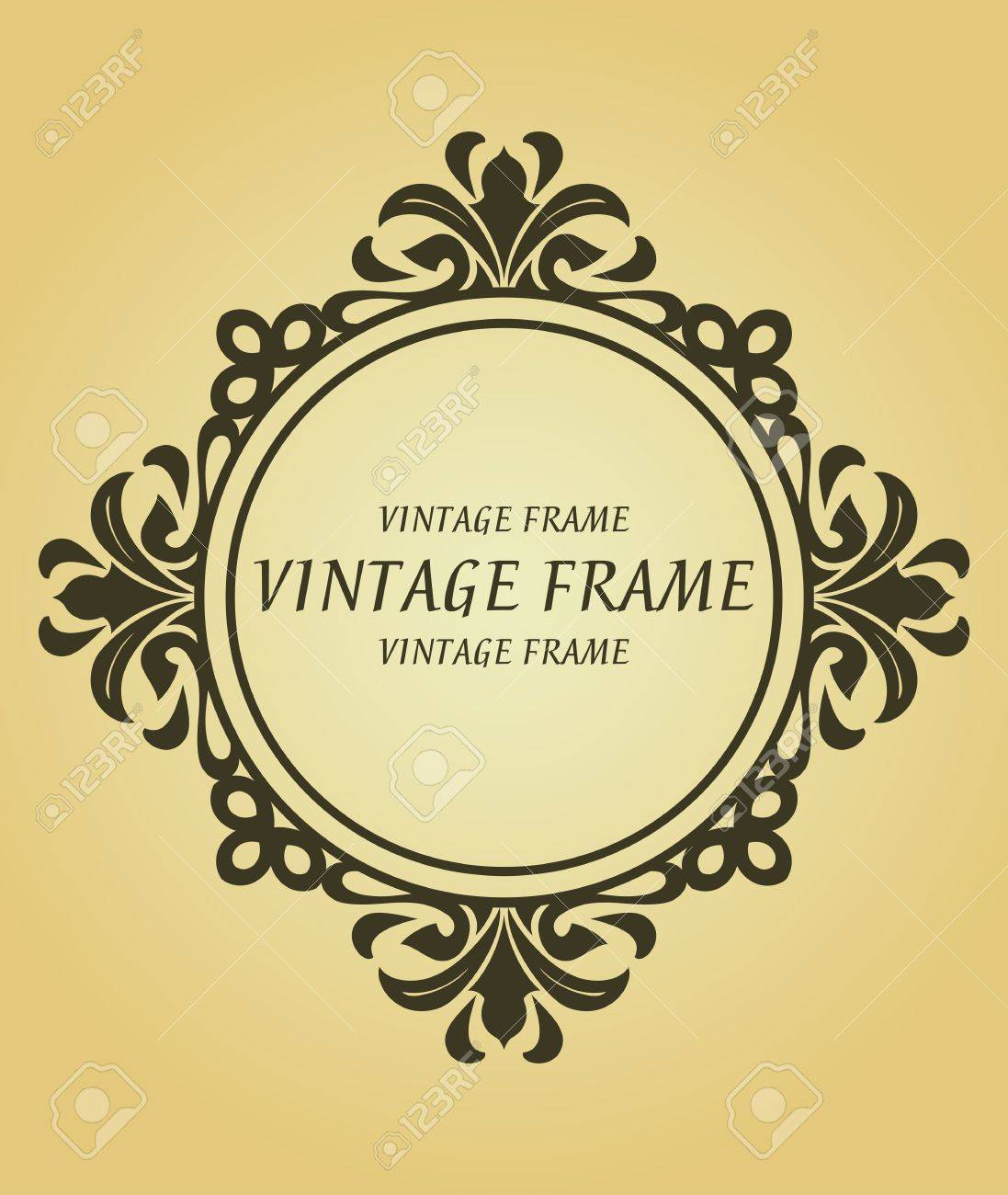 Vintage frame in victorian style for design as a background Stock Vector - 7248414