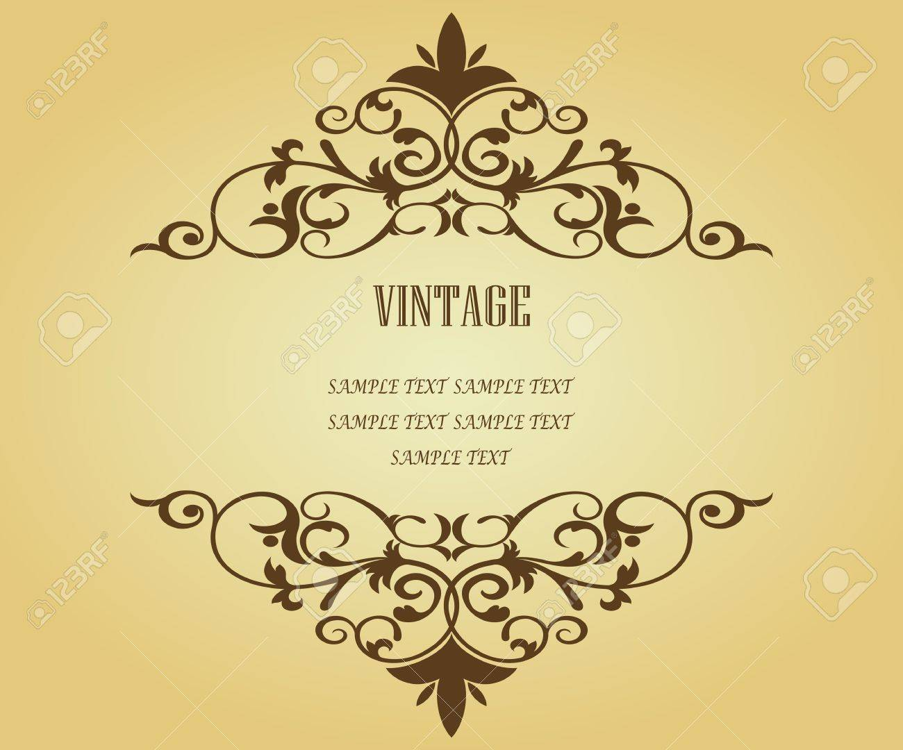 Vintage frame in victorian style for design as a background Stock Vector - 7248427