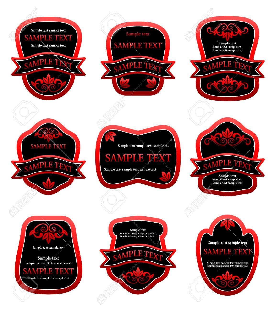 Set of labels for design food and beverages Stock Vector - 7248511