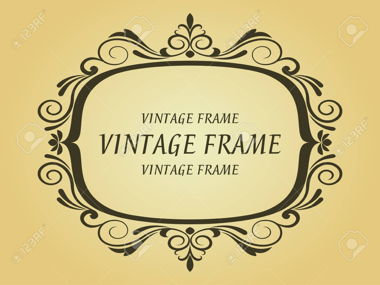 Vintage frame in victorian style for design as a background Stock Vector - 7248461