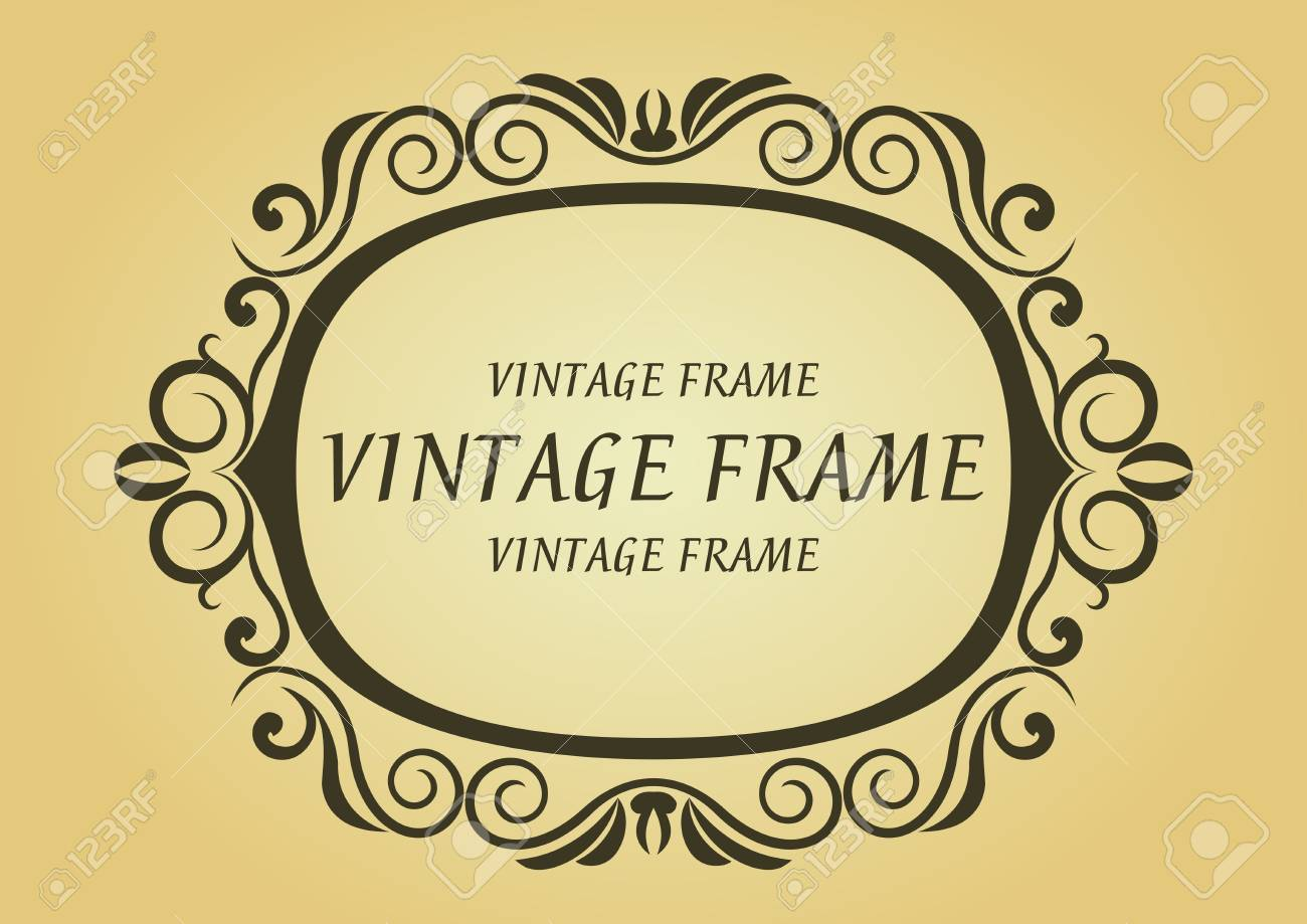 Vintage frame in victorian style for design as a background Stock Vector - 7248456