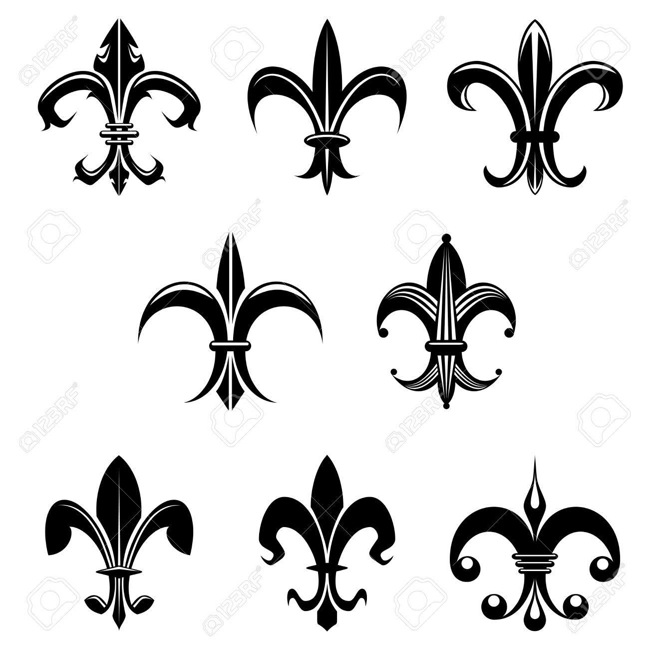 French lily flower stock photos pictures royalty free french french lily flower royal french lily symbols for design and decorate dhlflorist Images