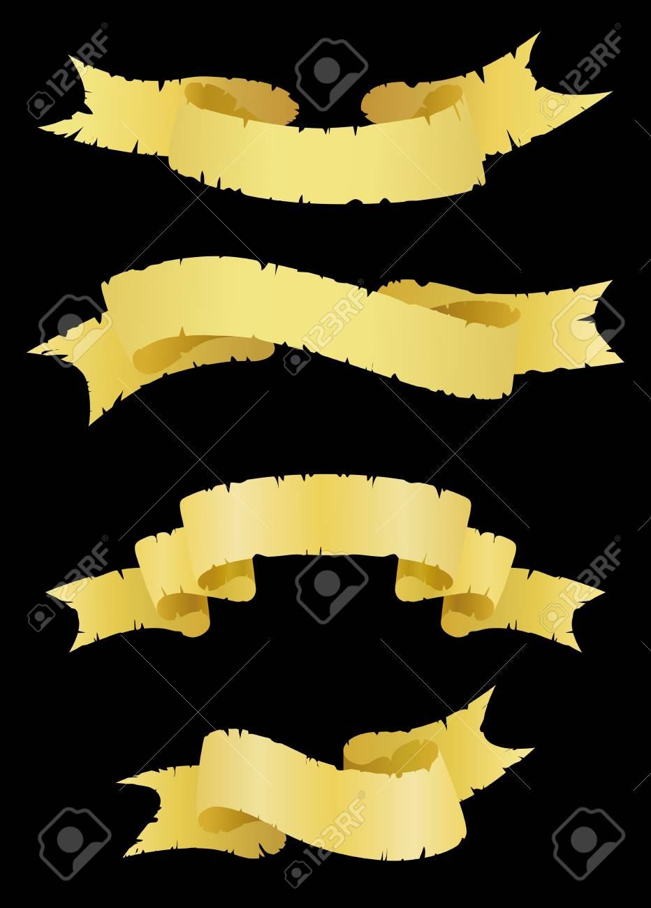 Old ribbons as a banners isolated on background Stock Vector - 7544254