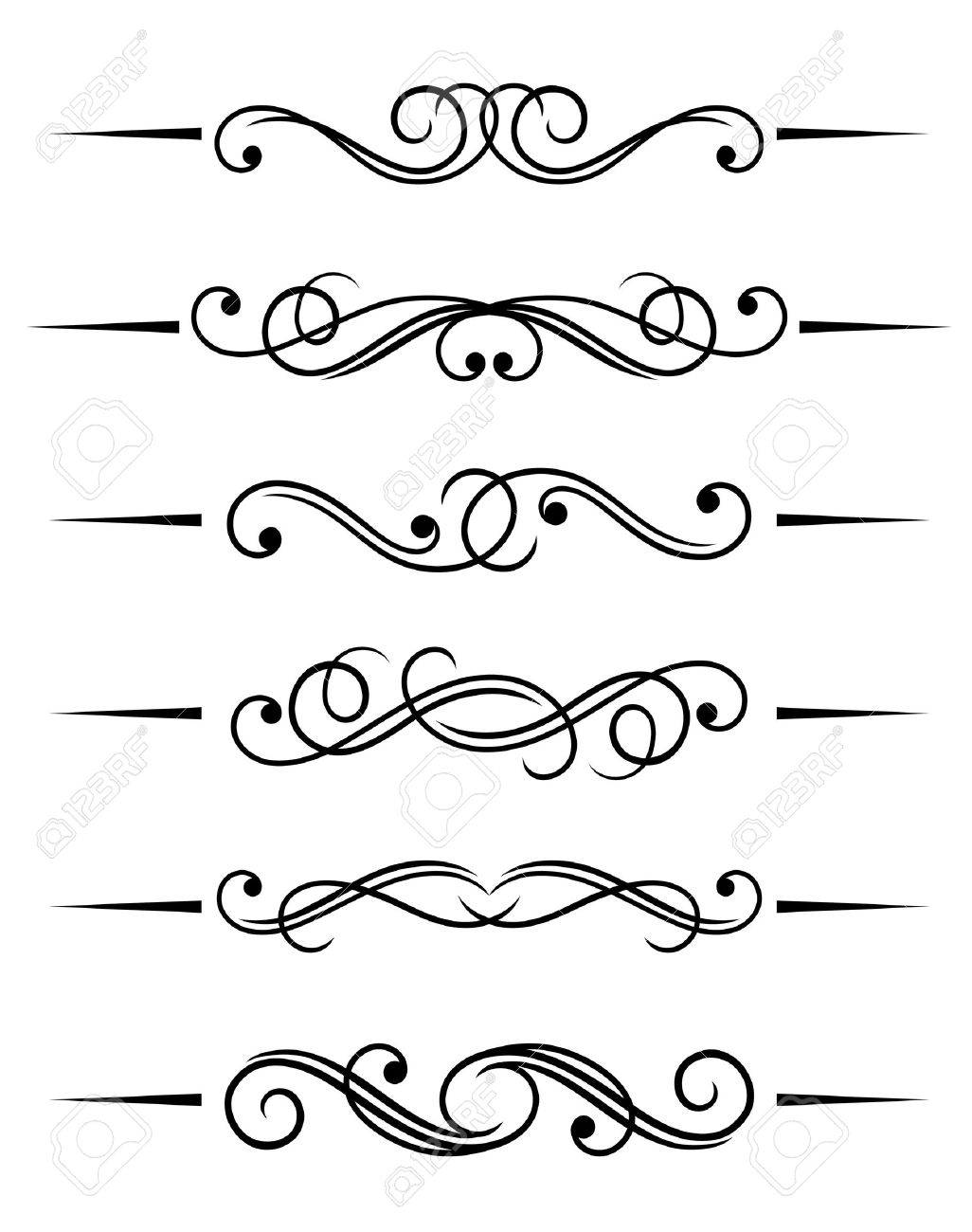 Swirl Elements And Monograms For Design And Decorate Stock Vector 7633702