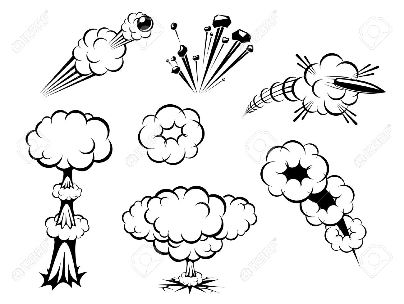 1,430 Cartoon Smoke Bomb Stock Illustrations, Cliparts And Royalty ...