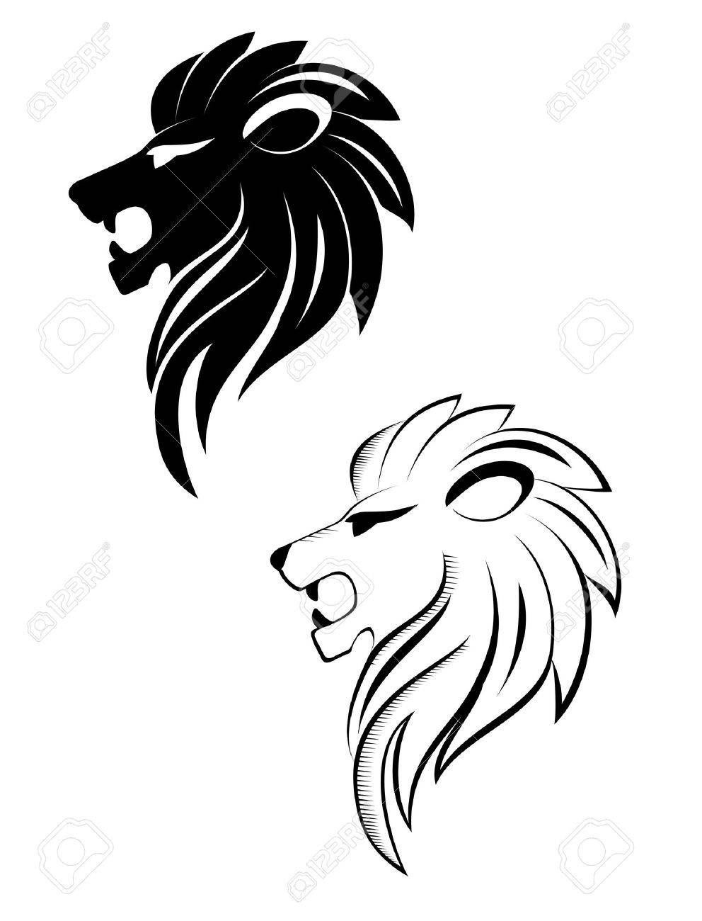 Isolated lion head as a symbol or sign Stock Vector - 8805148
