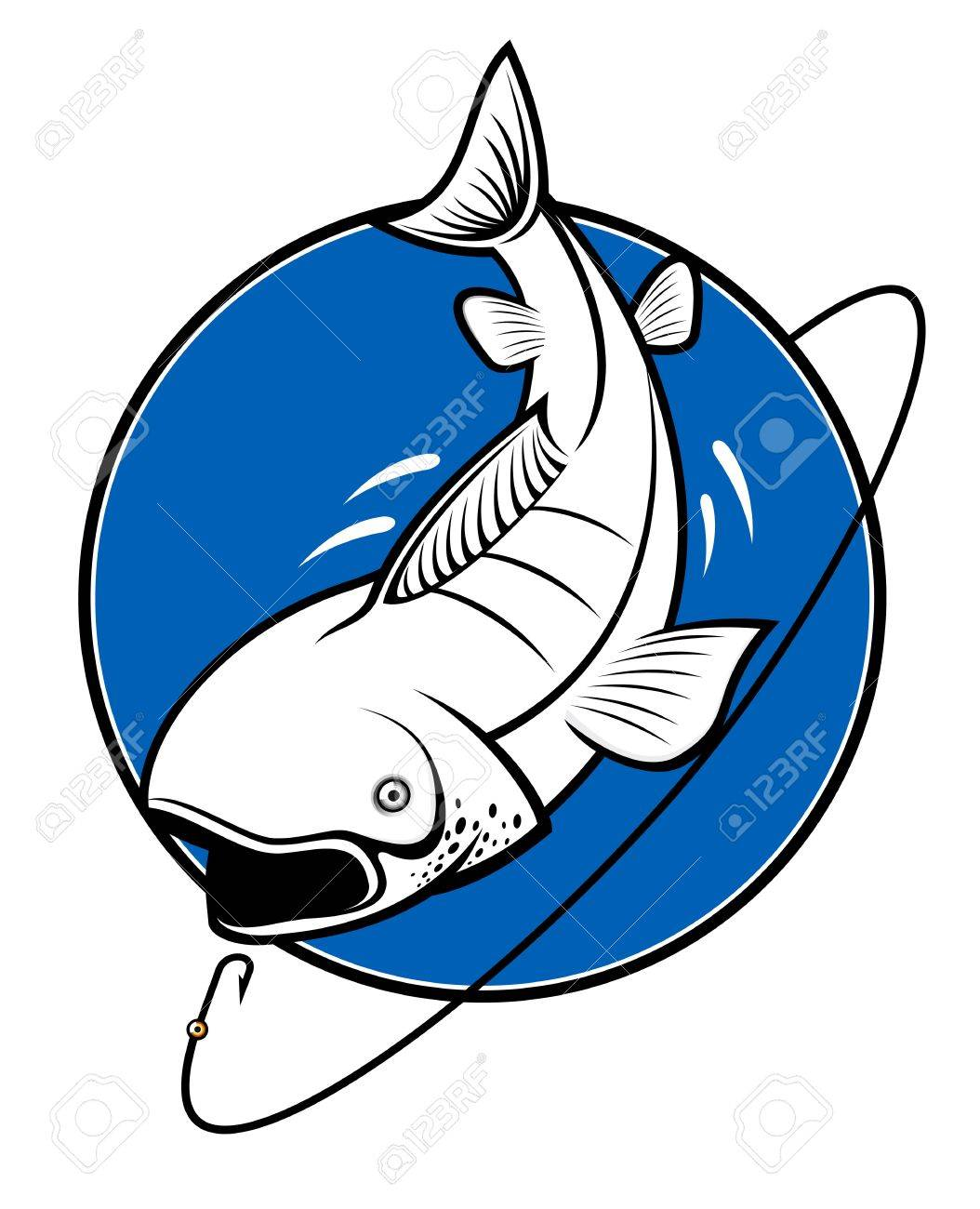 Fish as a fishing symbol isolated on white - 8910398