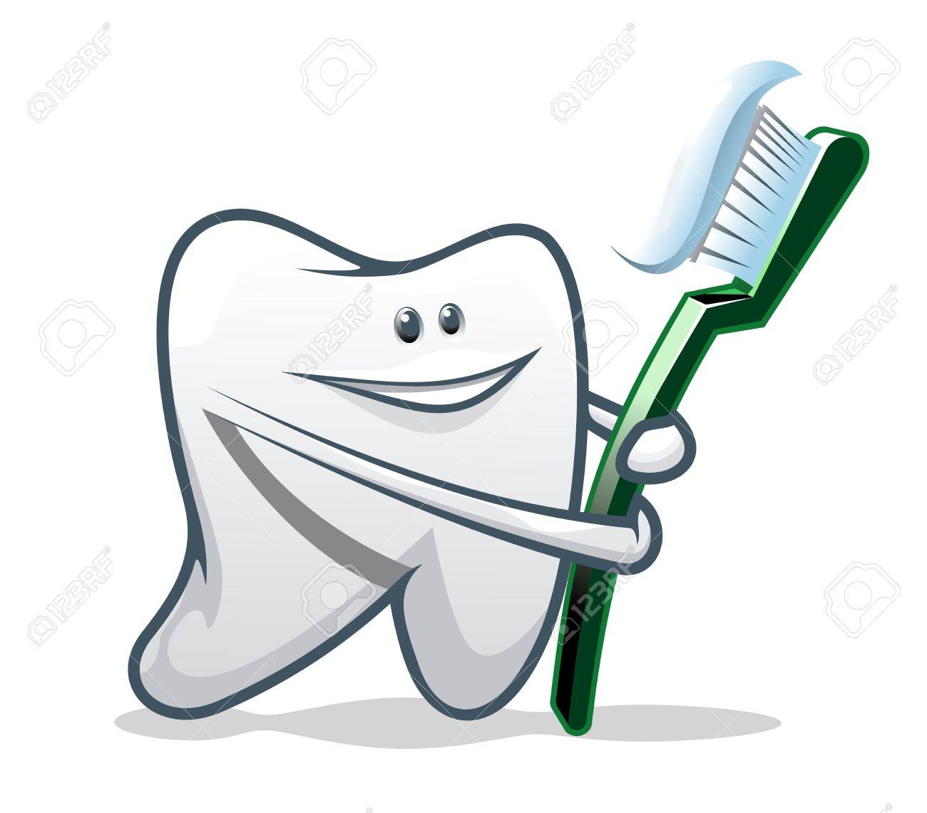 White smiling teeth as a health concept or symbol Stock Vector - 8910404