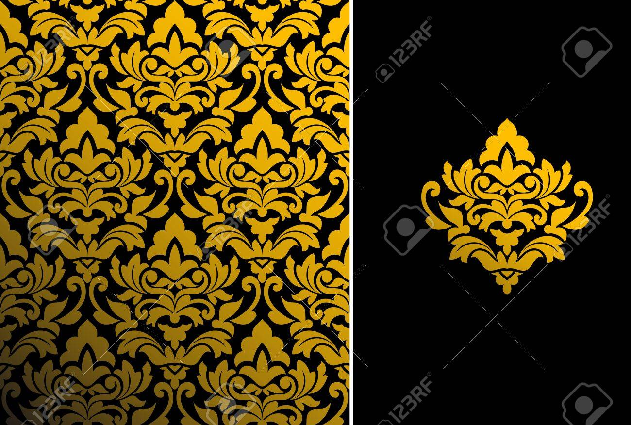 Seamless background and floral pattern for ornate Stock Photo - 9109030