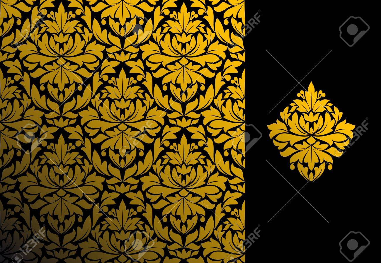 Seamless background and floral pattern for ornate Stock Vector - 9184023