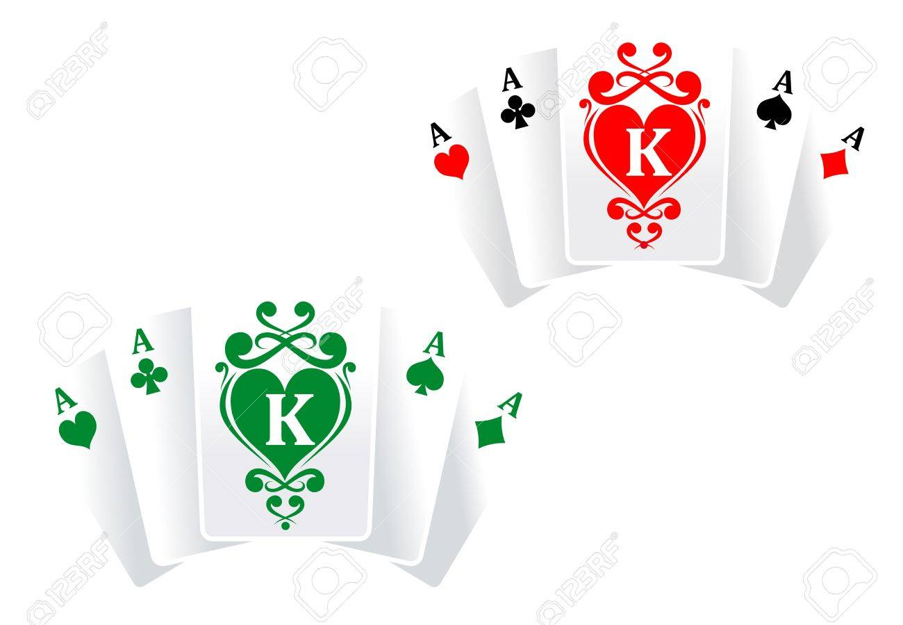 Poker symbol with cards as a lucky concept Stock Vector - 9454056