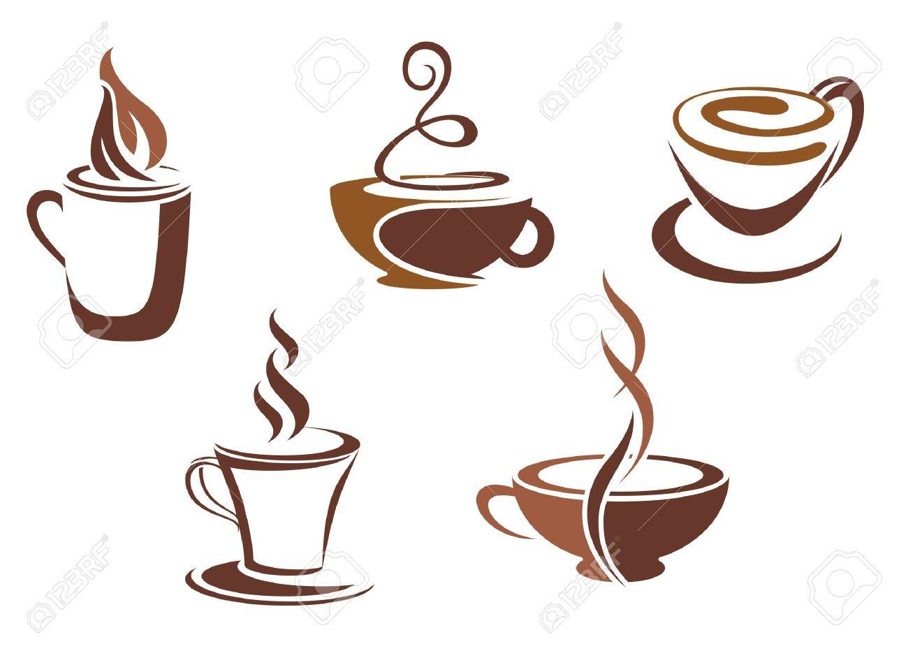 Coffee and tea symbols and icons for food design Stock Vector - 9609380
