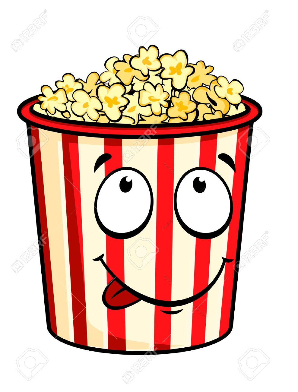 Cartoon popcorn isolated on white for fastfood design Stock Vector - 9609389