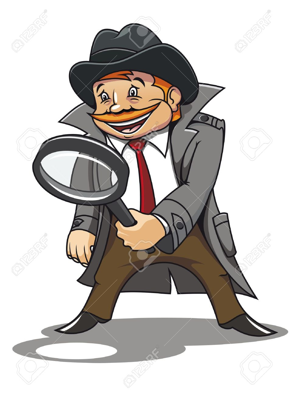 Detective with magnifying glass for cartoon design Stock Vector - 9720080