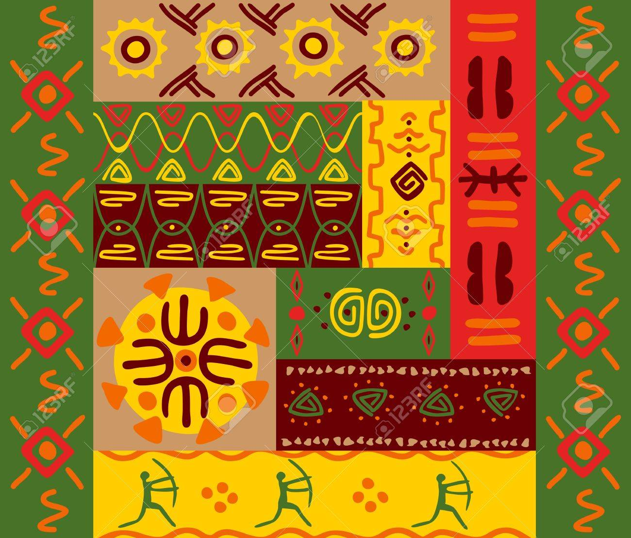 Abstract ethnic patterns and ornaments for design Stock Vector - 9929671