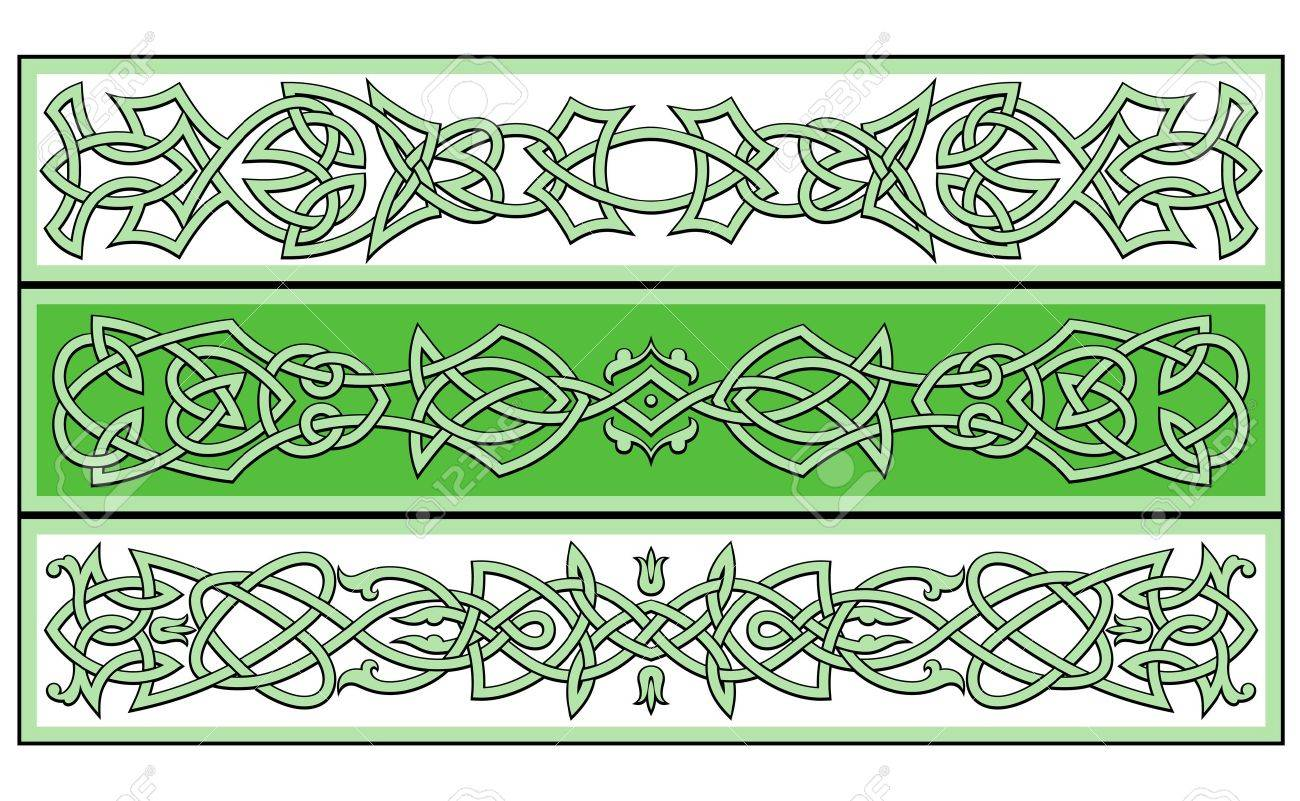 Celtic ornaments and patterns for irish or religious design Stock Vector - 9929680