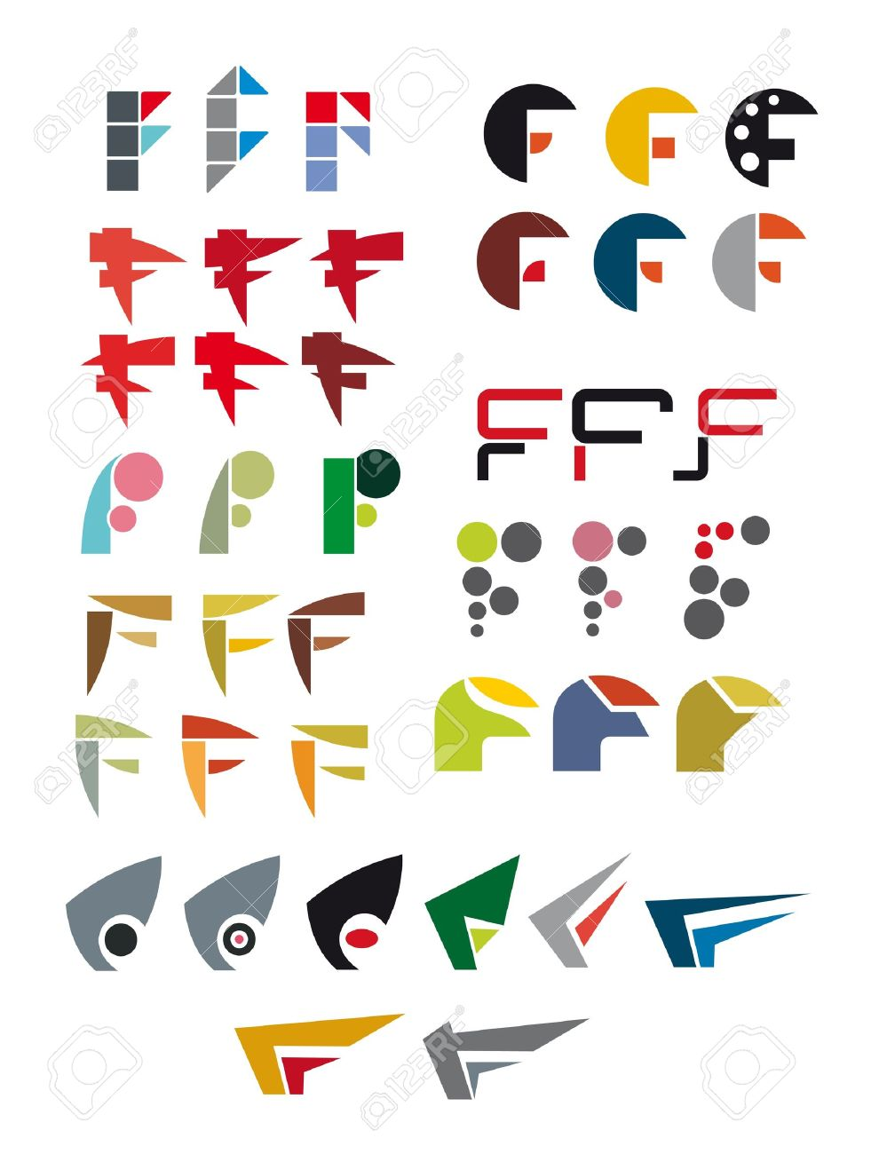 F  logo  letter  design   F Logo Design Vector