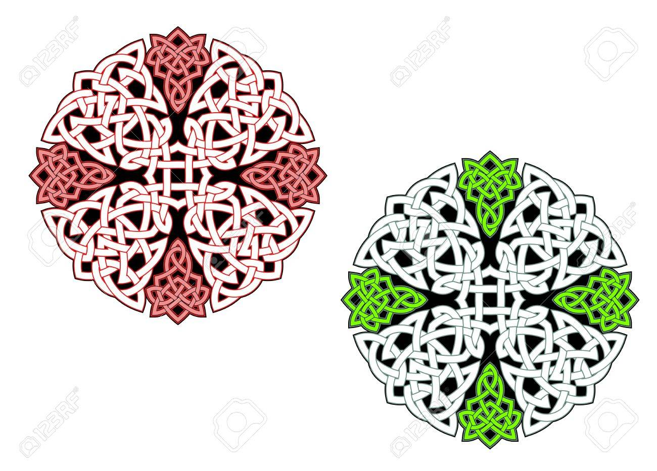 Celtic ornaments and patterns for irish or religious design Stock Vector - 10618786