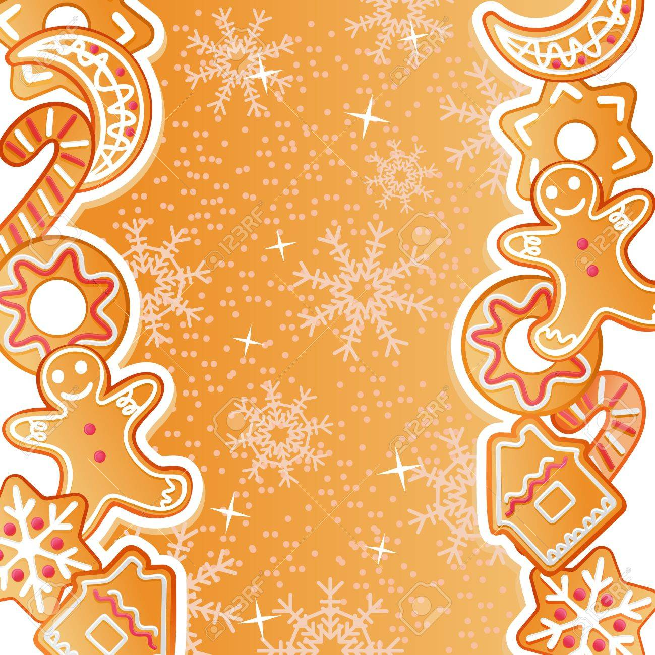 Gingerbread background for christmas or new year holiday design Stock Vector - 10692923