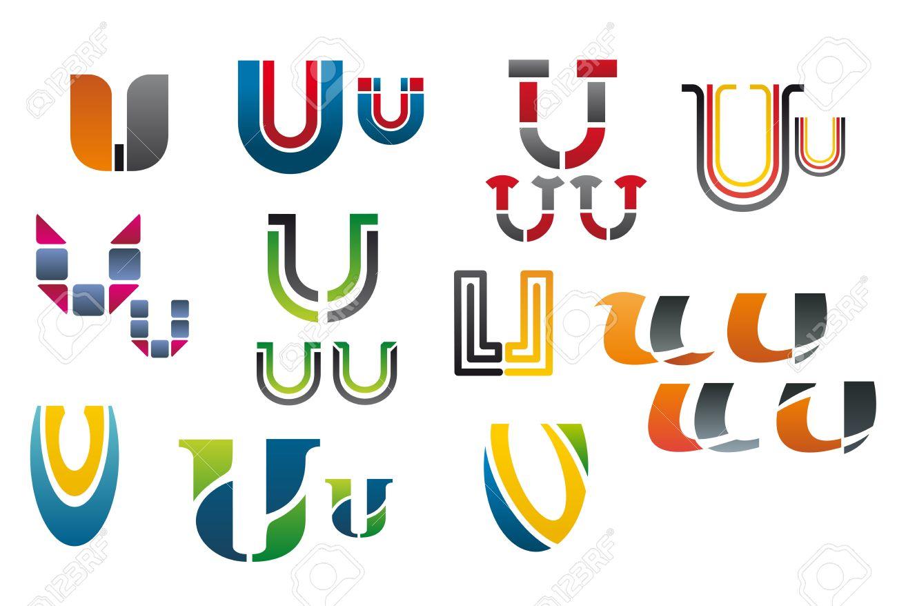 U Logo Design of letter U  logo  letter