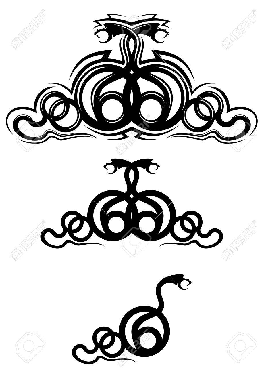 Frame Tattoo Designs With Isolated Snakes As Frame Or Tattoo Design Stock Vector 10942525 Snakes As Frame Or Tattoo Design Royalty Free Cliparts