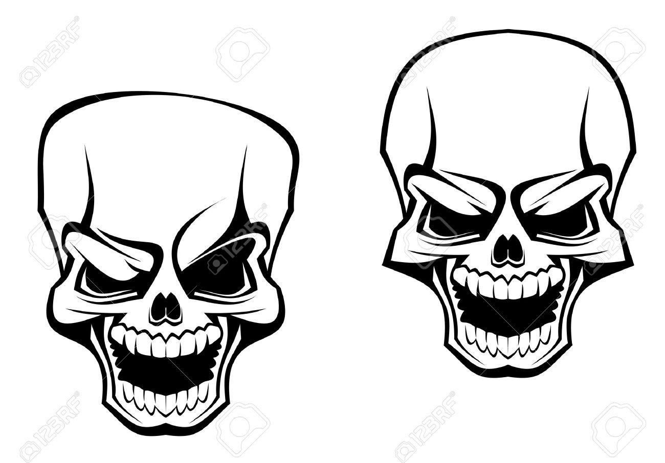 danger skull as a warning or evil concept royalty free cliparts rh 123rf com vector skull 1080 by 1080 vector skulls free