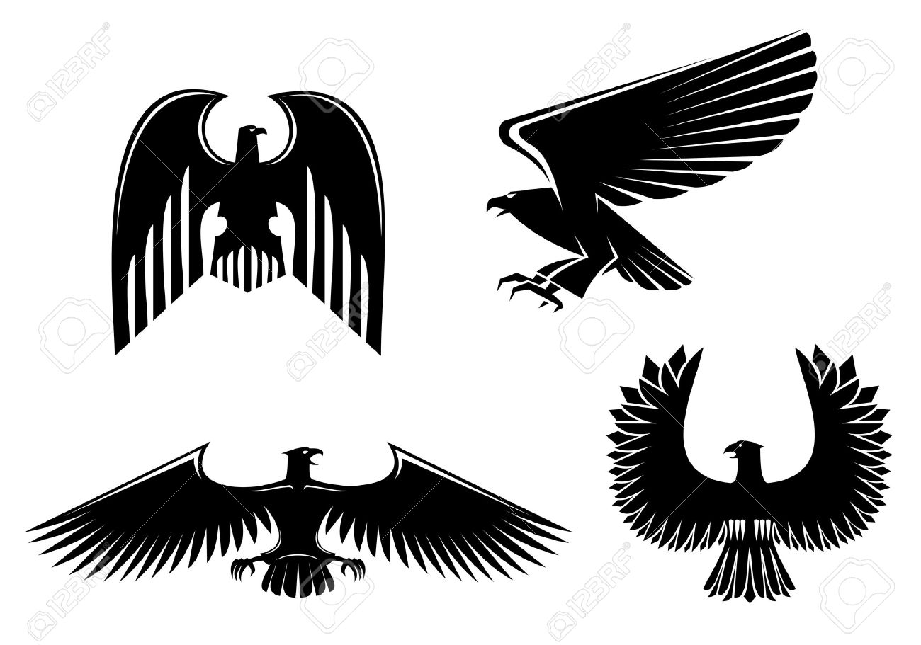 Eagle symbol isolated on white for design Stock Vector - 10942304