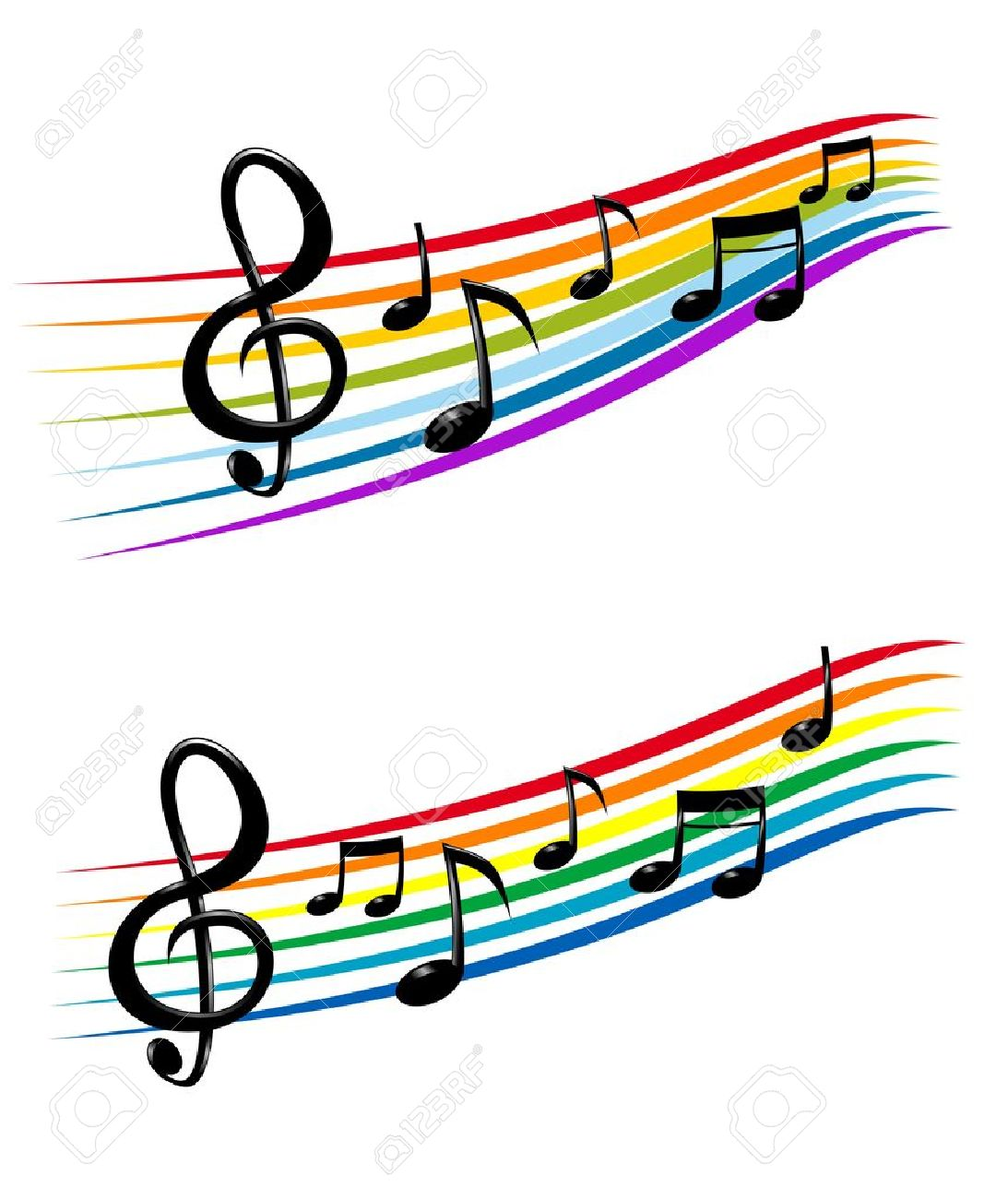 Dessin Note De Musique notes avec des éléments de la musique comme un dessin de fond