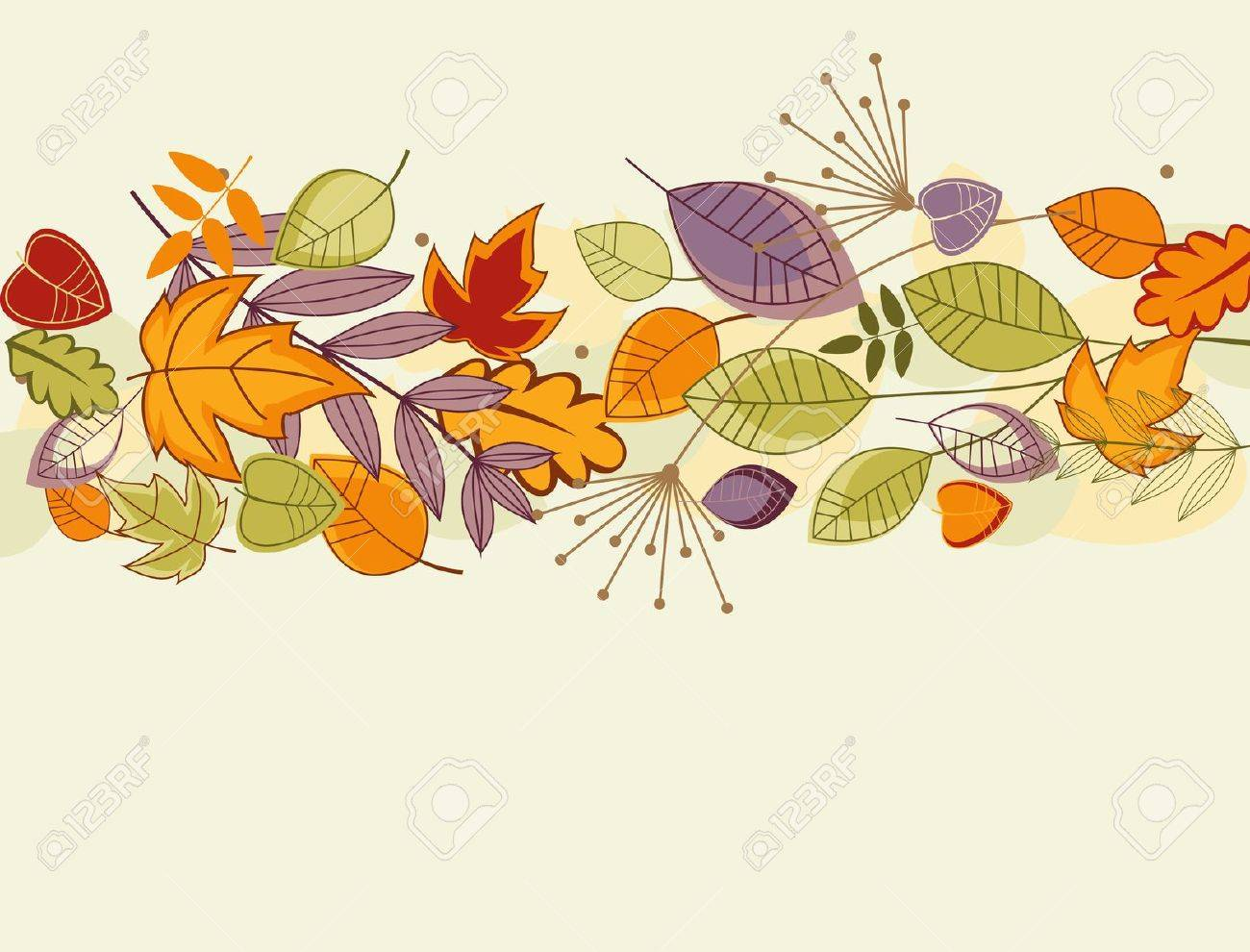 Autumn colorful leaves background for thanksgiving design Stock Vector - 10942578