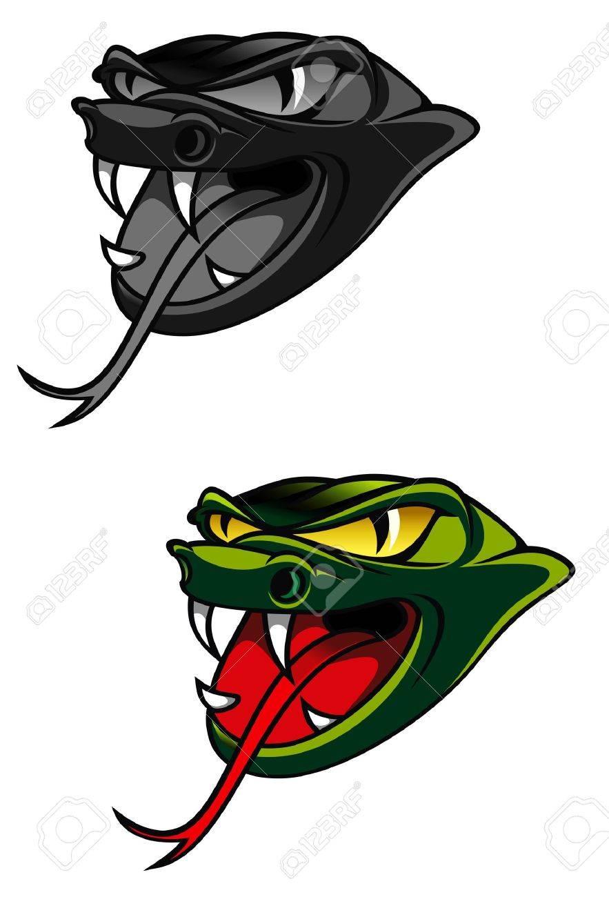 Green head of danger snake as a warning concept Stock Vector - 10942538