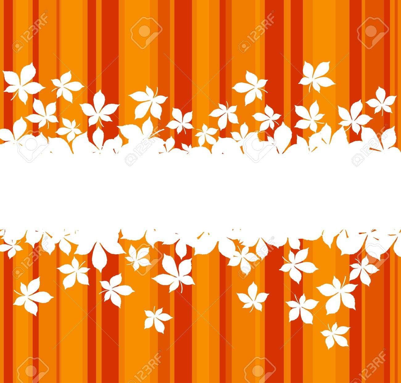 Autumnal  leaves background with frame for seasonal design Stock Vector - 11006283