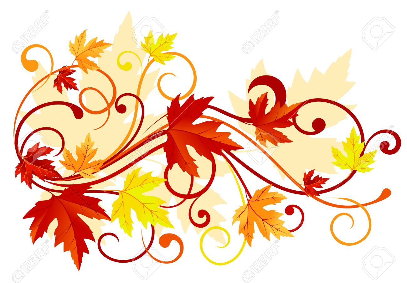 Autumn colorful leaves background for thanksgiving design Stock Vector - 11275031