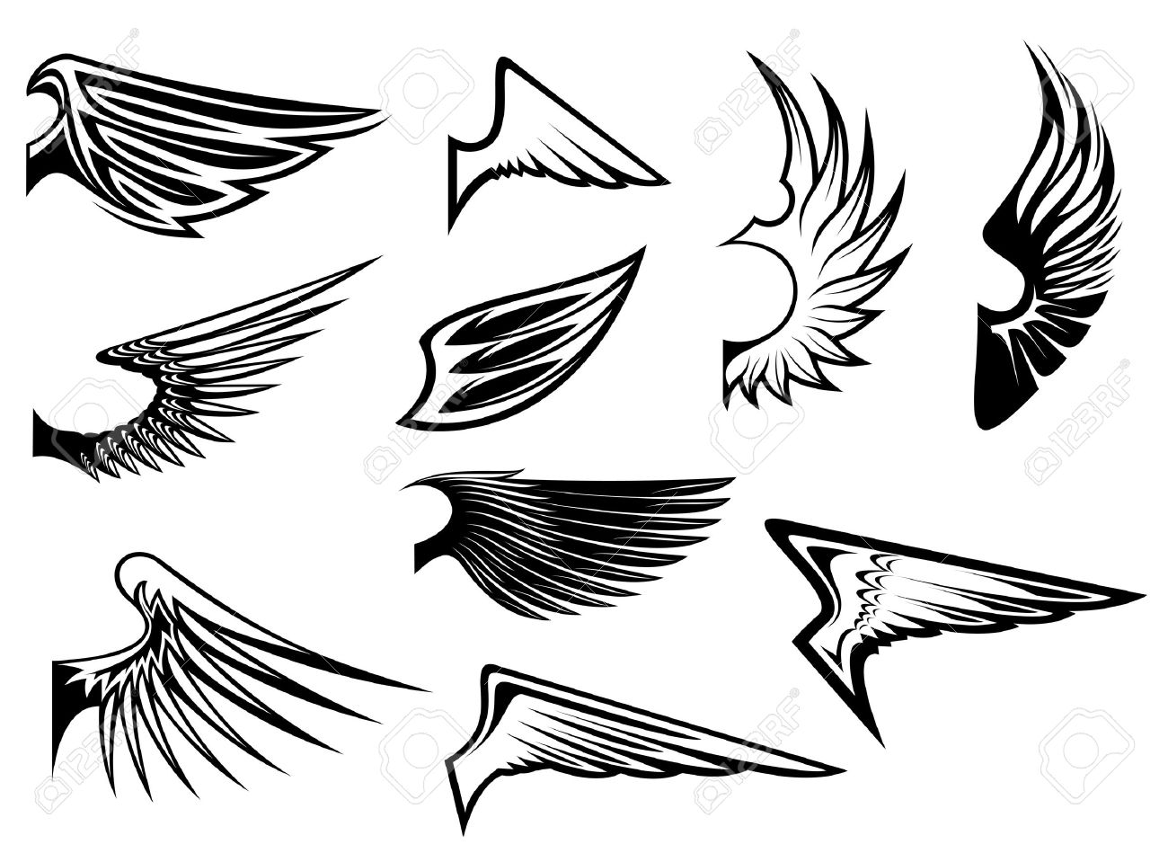 19,796 Angel Wing Stock Vector Illustration And Royalty Free Angel ...