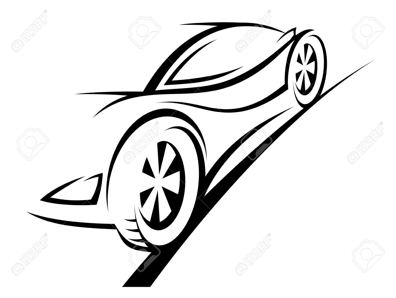 Silhouette of sport car for racing sports design Stock Vector - 12306824