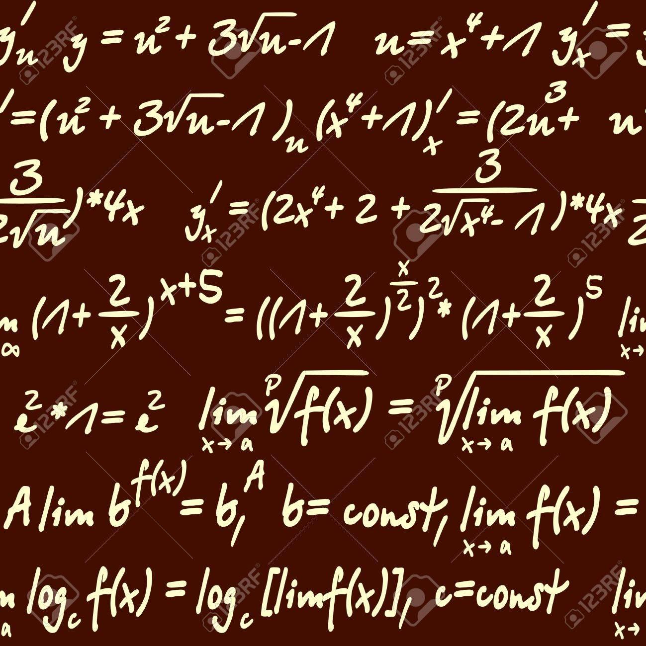背景や壁紙のデザインのための数学記号とシームレスな科学のイラスト素材 ベクタ Image