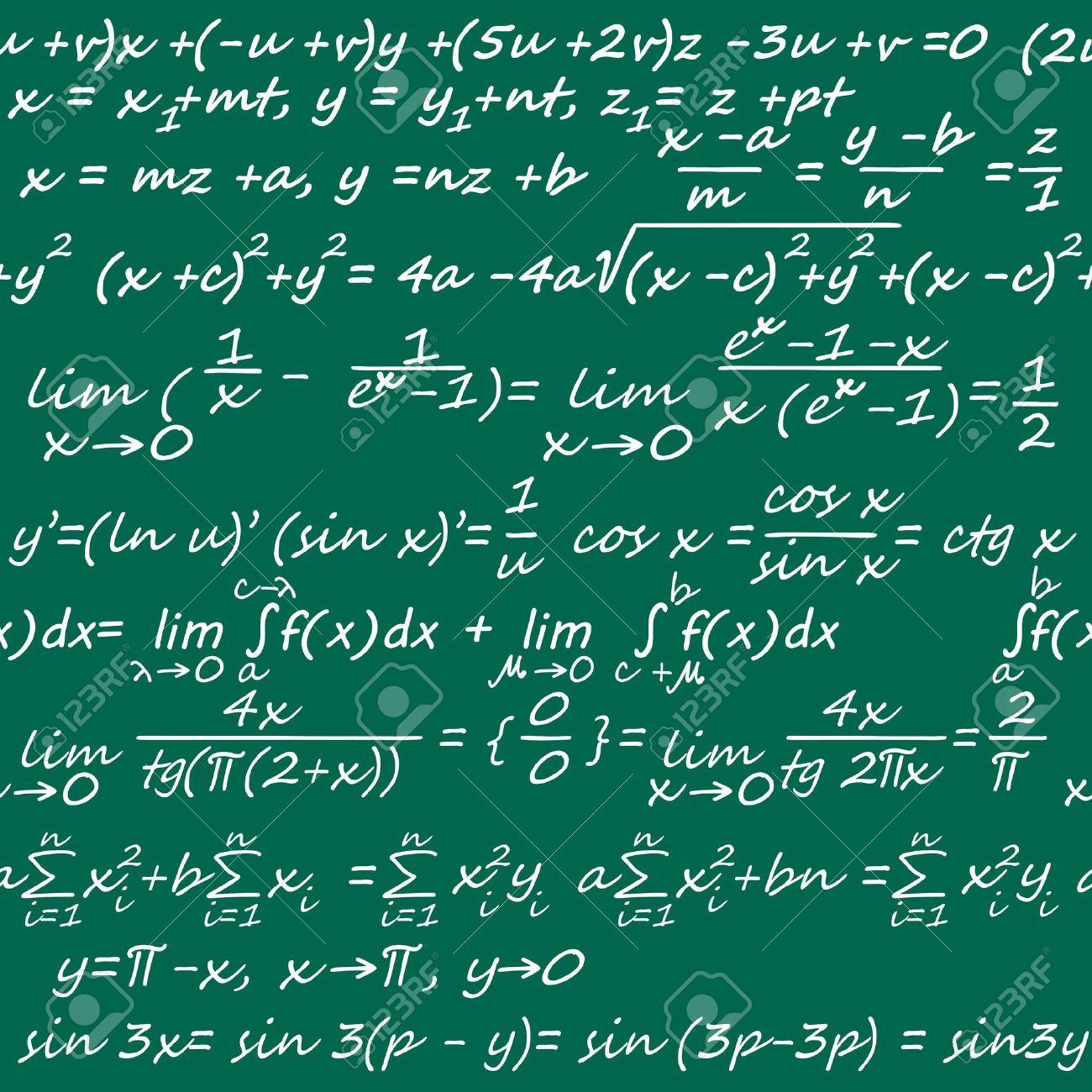 シームレス背景や壁紙のデザインのための数学記号でのイラスト素材