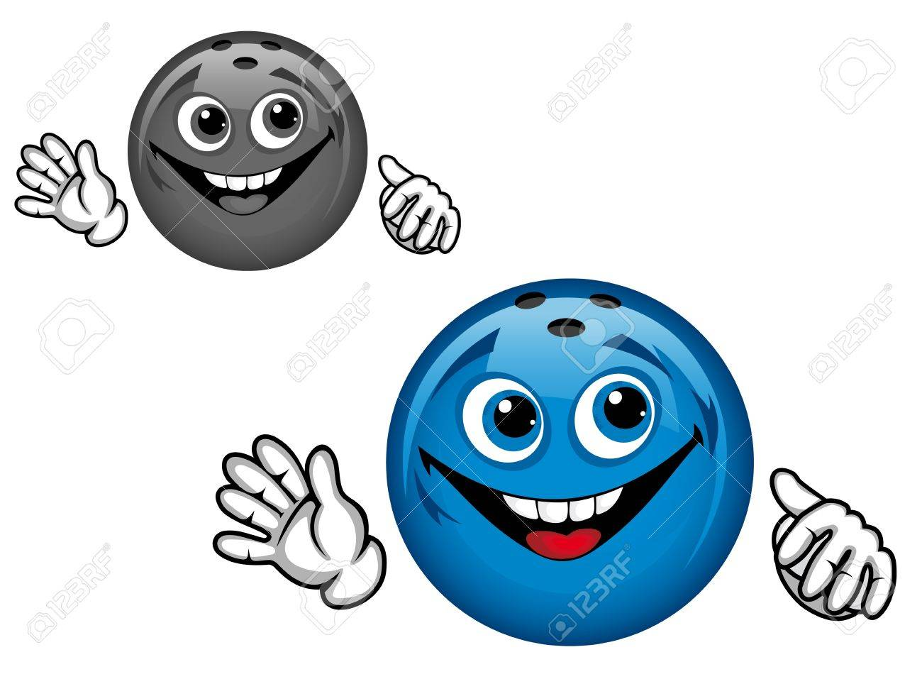 Bowling ball in cartoon style for sports design Stock Vector - 12465390