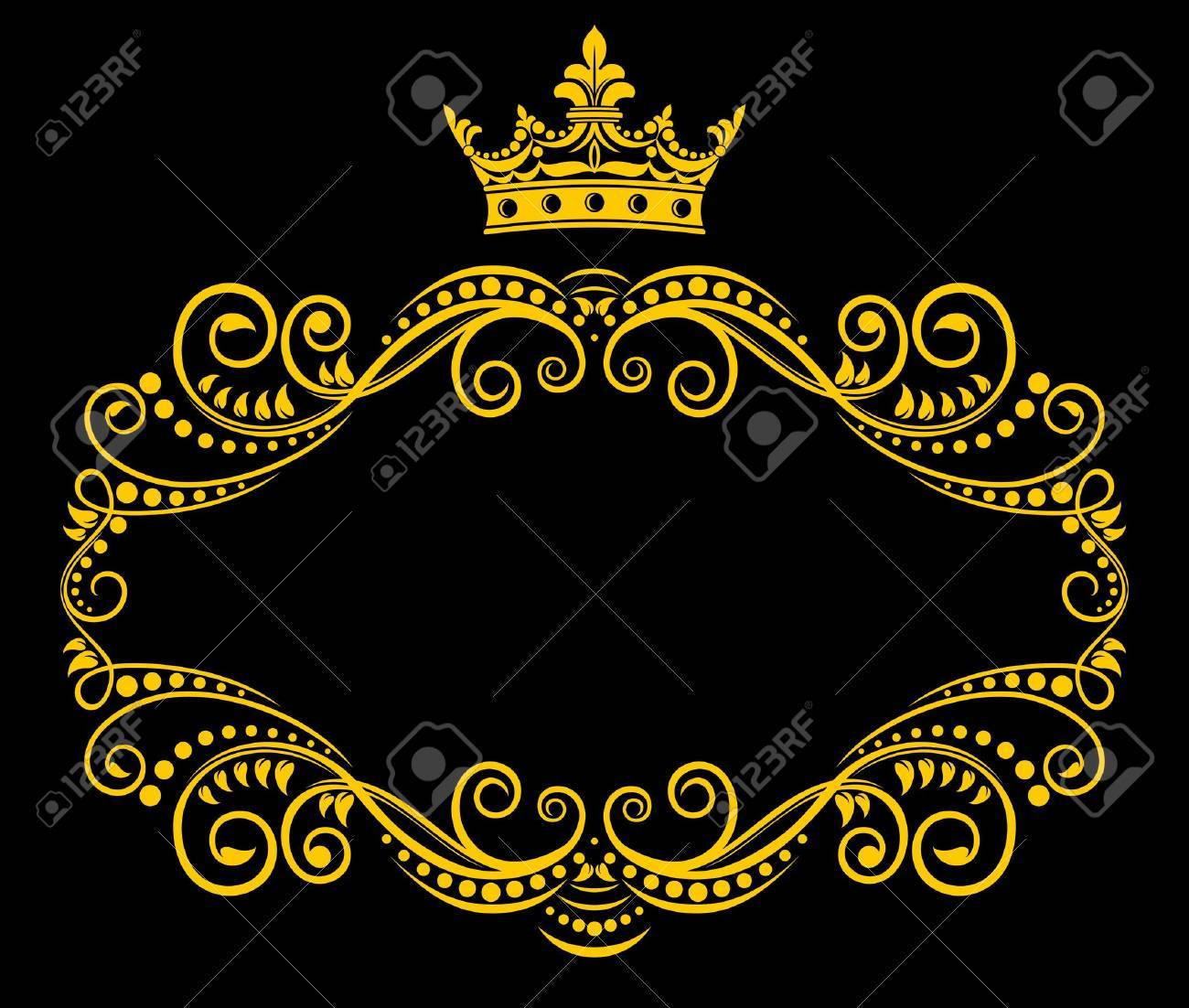 Medieval frame with royal crown in retro style Stock Vector - 12497812