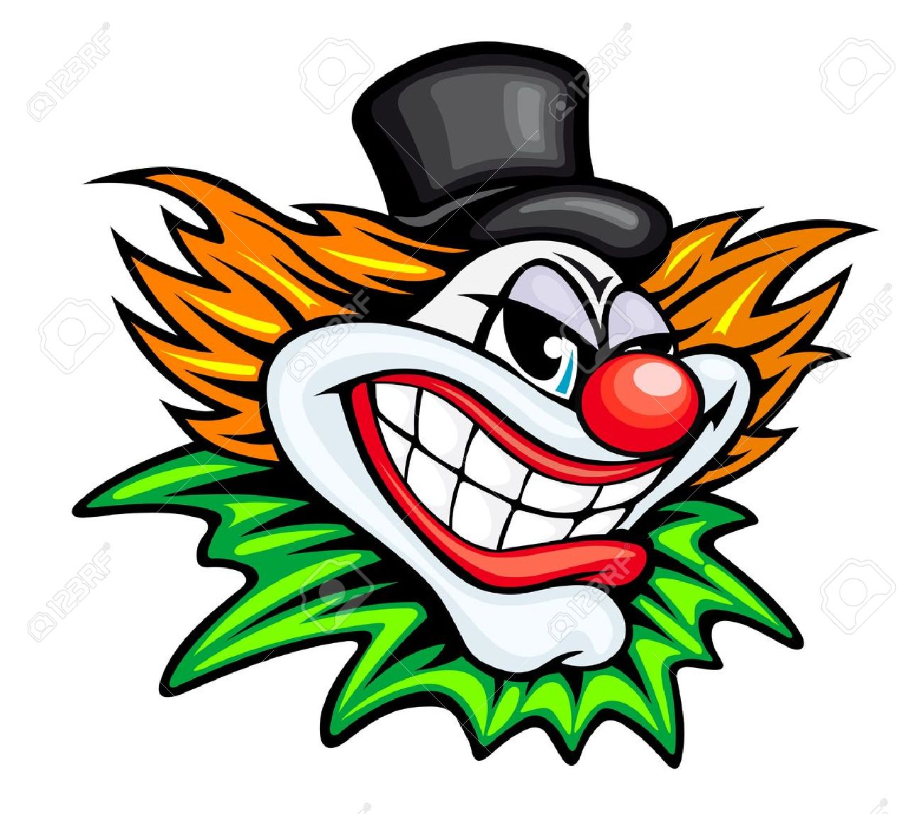 Angry circus clown or joker in cartoon style royalty free cliparts angry circus clown or joker in cartoon style stock vector 13194219 voltagebd Images