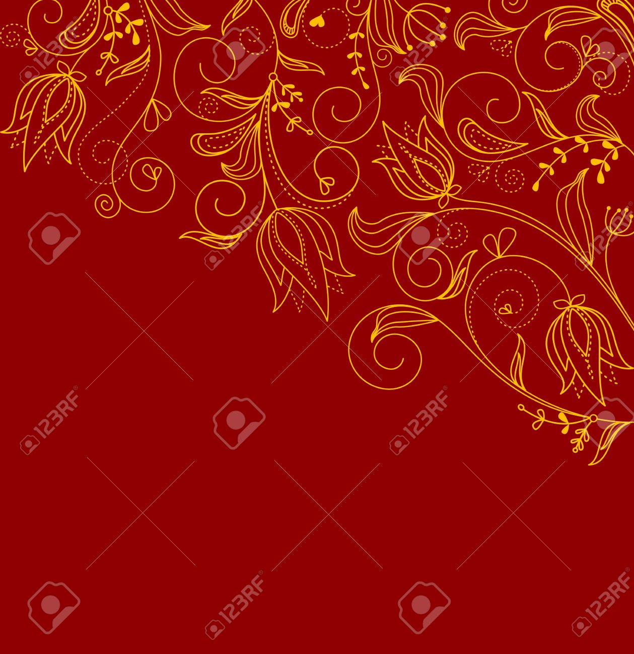 Abstract Floral Background For Invitation Card Design Royalty Free