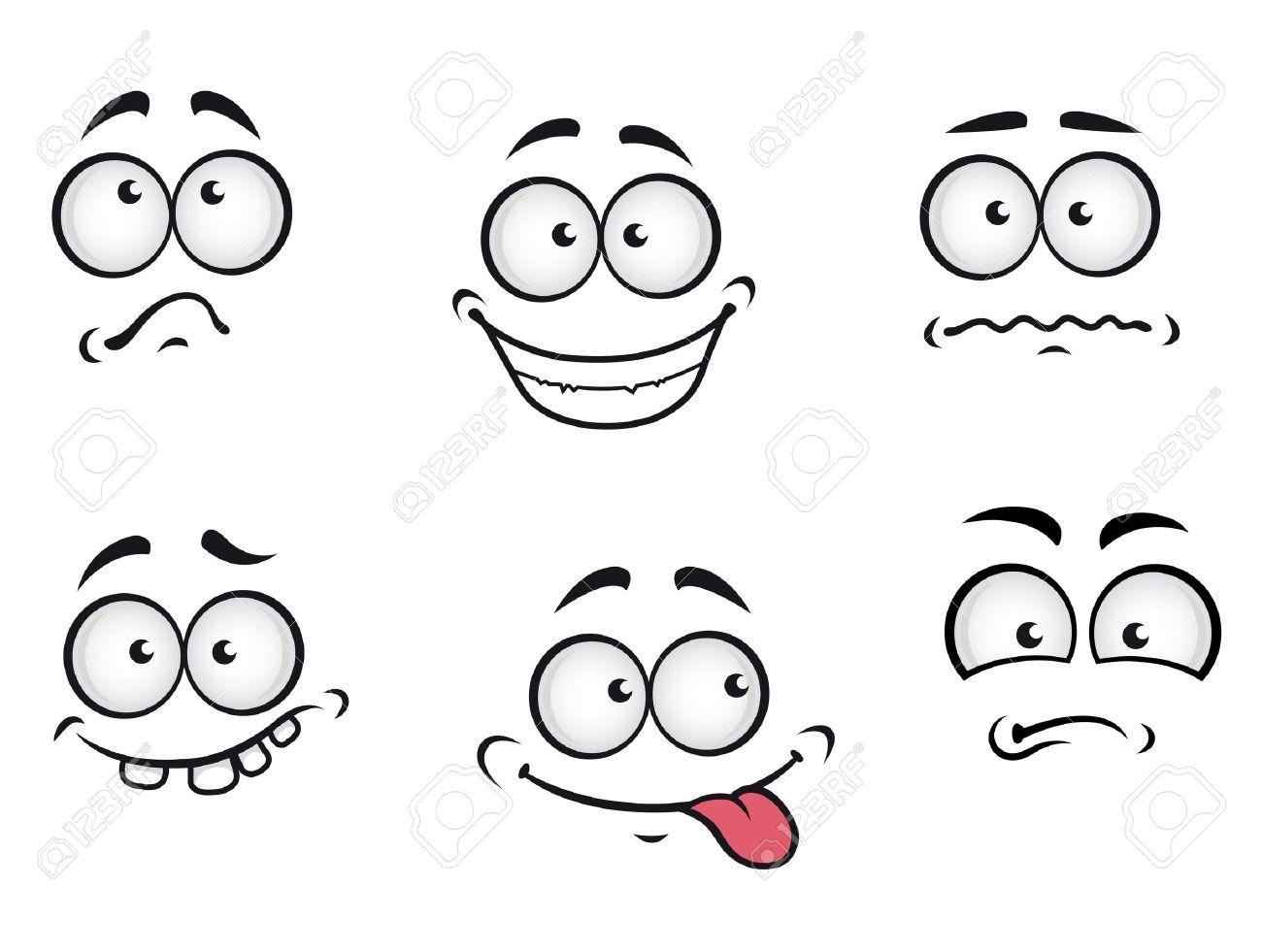 Cartoon emotions faces set for comics design Stock Vector - 13523198