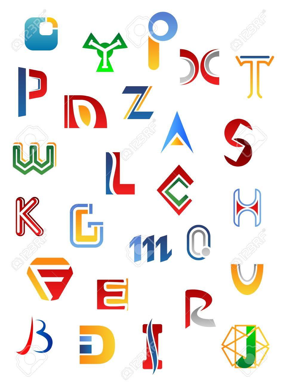 letter with symbols photo set of full alphabet symbols and letters