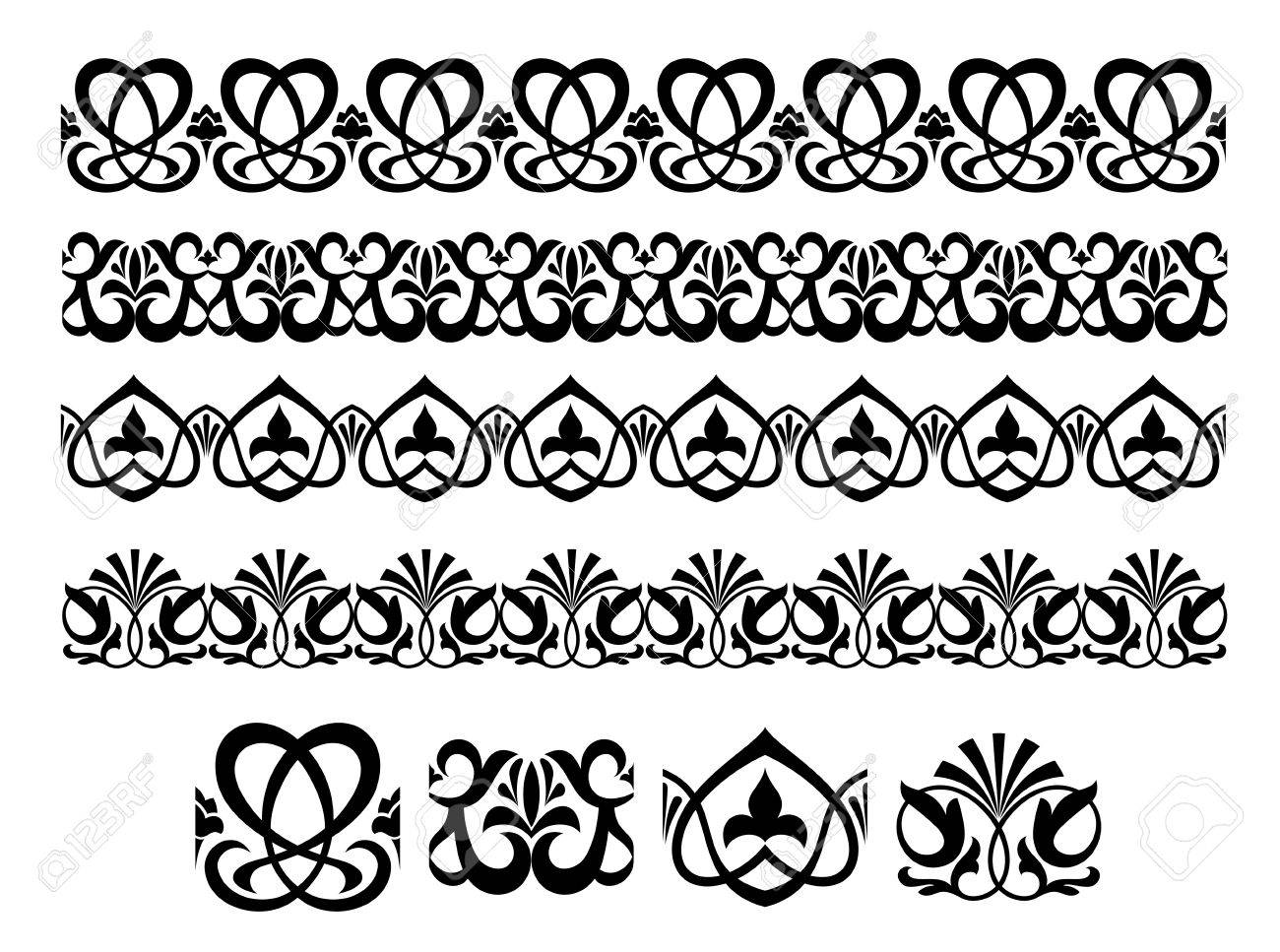 Retro ornaments and embellishments for ornate and decoration Stock Vector - 13828647
