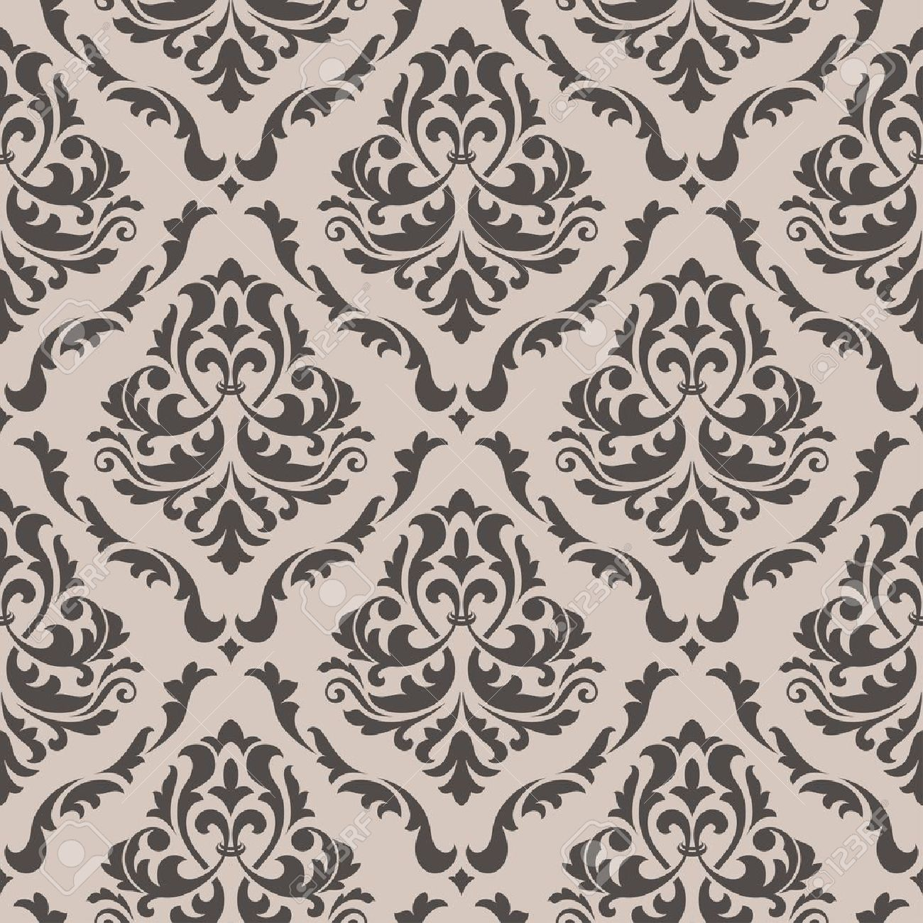 Victorian Design seamless floral pattern for background design in victorian style
