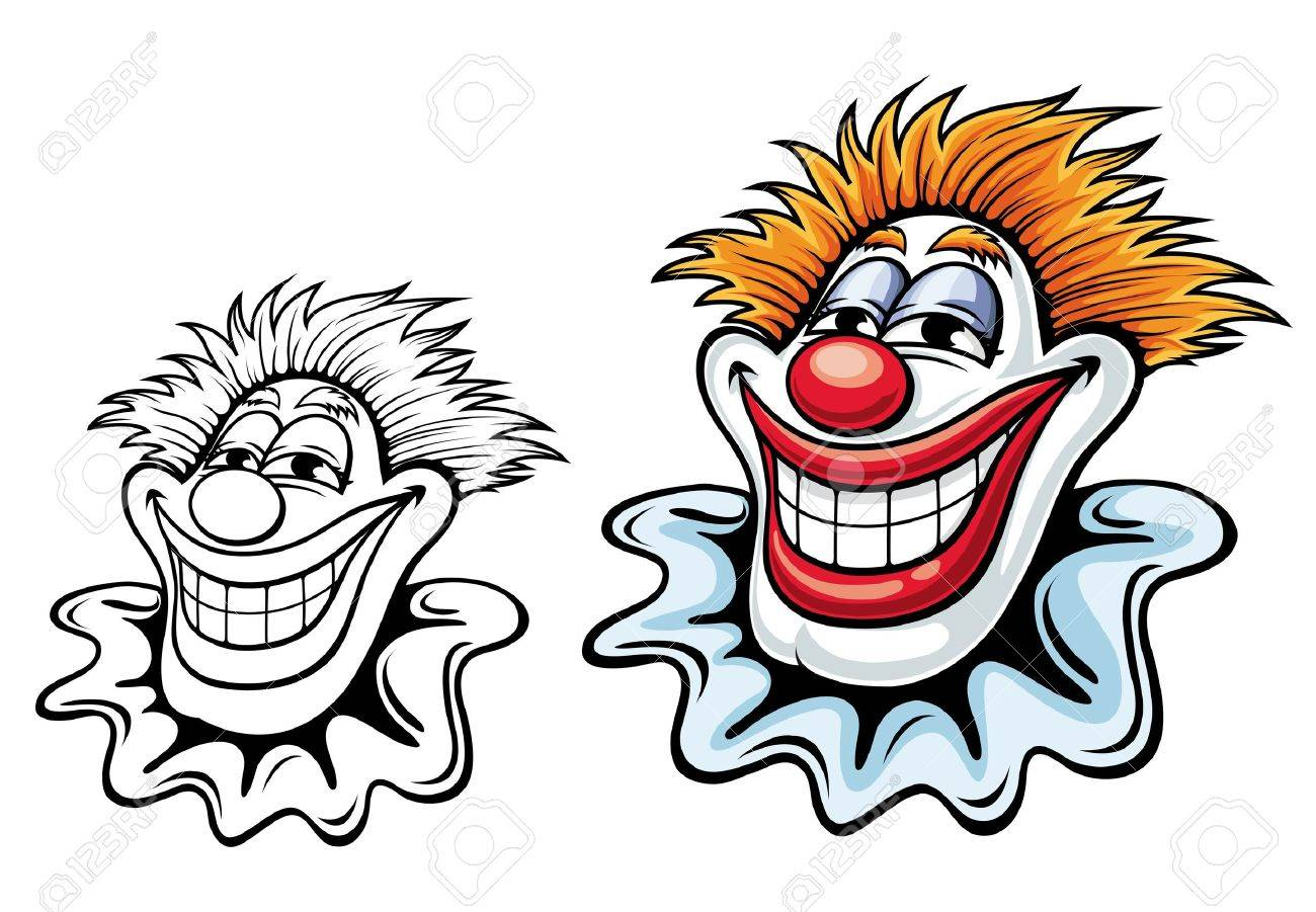 Cartoon circus clown for carnival, party or another entertainment design Stock Vector - 14265588
