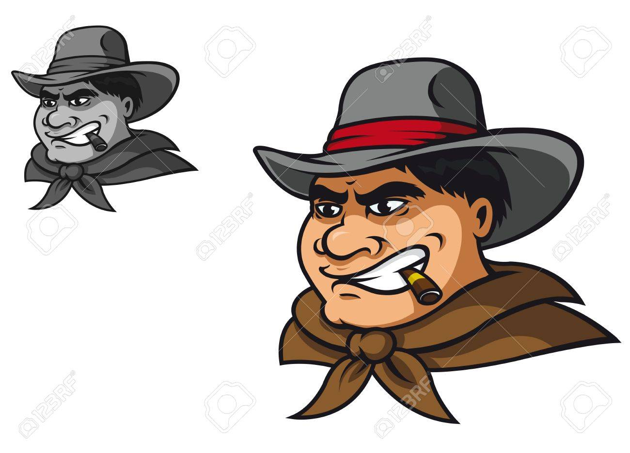 Western cowboy in cartoon style for mascot Stock Vector - 14933229