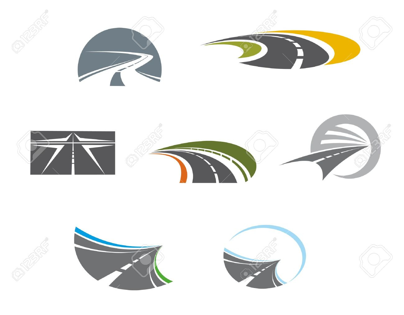 Road symbols and pictograms for transportation design Stock Vector - 15524002